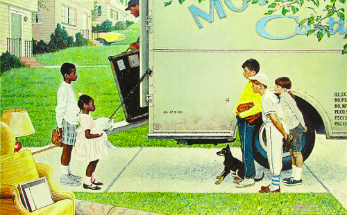norman rockwell - moving day