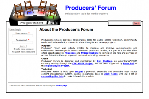 About the Producer's Forum - Producers' Forum_1243800321575